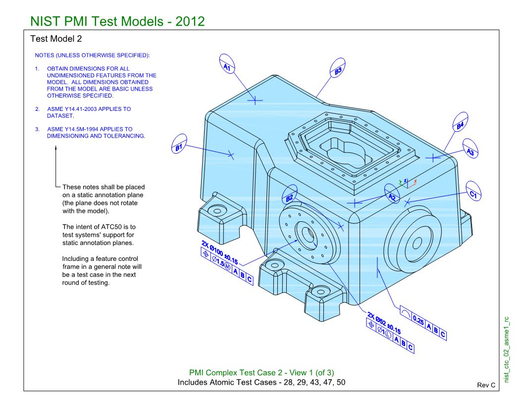SP5/TGP3 (NIST CTC-02): Semantic PMI Representation / Tessellated PMI Presentation