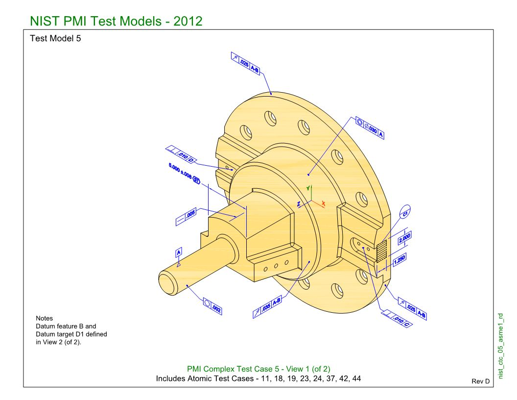 SP5/TGP3 (NIST CTC-05): Semantic PMI Representation / Tessellated PMI Presentation