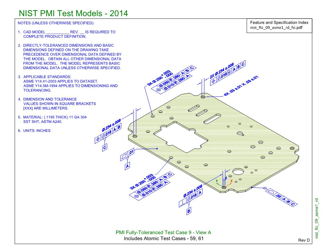 SP5/TGP3 (NIST FTC-09): Semantic PMI Representation / Tessellated PMI Presentation
